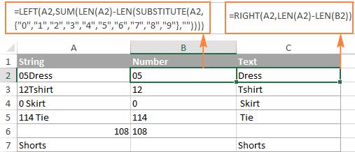 split-string-number-text