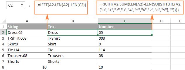 split-text-number-formula